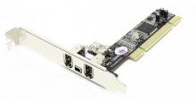 Контроллер ST-LAB F-330 PCI, IEEE 1394, 3 port-ext, 1 port-int