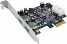 Контроллер Controller ST-LAB U-720 PCI-Ex1, USB3.0, 1 port-ext, 1 port-int